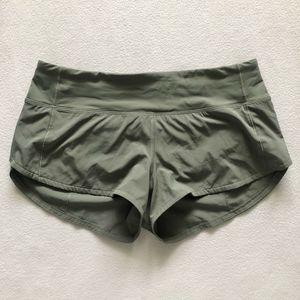 "Lululemon Run Speed Up Shorts 2.5"" Misty Meadow 6"